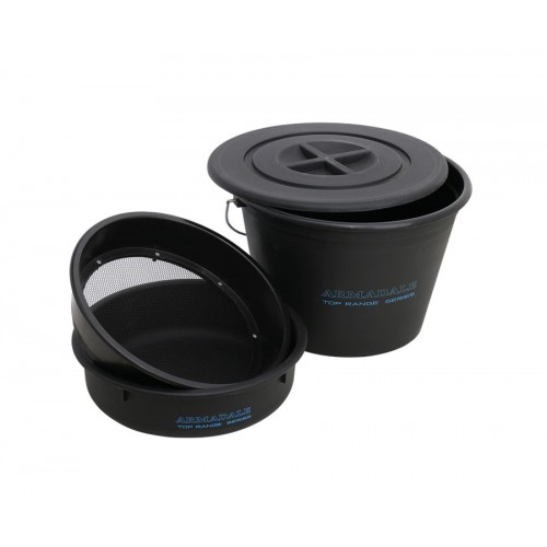 Набор ведро+крышка+сито Flagman Armadale Bucket Set With Plastic Riddle  25л